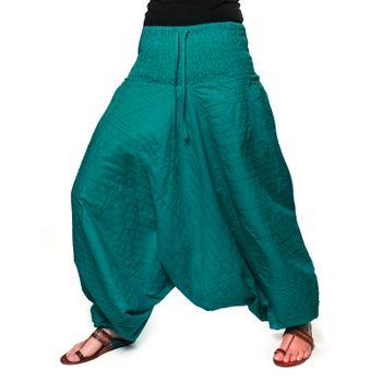 Kunst und Magie Damen Gesteppte Haremshose mit gesmoktem Bund - Goa Wellnesshose – Bild 2