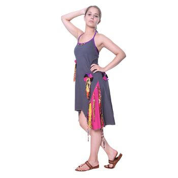 Kunst und Magie Naughty Minikleid Longshirt Tunic Hippie Boho carrier dress – Bild 3