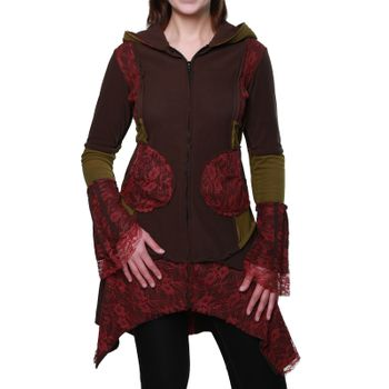 Women's Hippie Fleece Jacket with Hood – Bild 1
