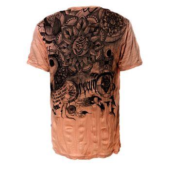 """Kunst und Magie Sure Buntes 70er Retro T-Shirt mit"""" Namaste OM"""" im Crinkle Look – Bild 9"""