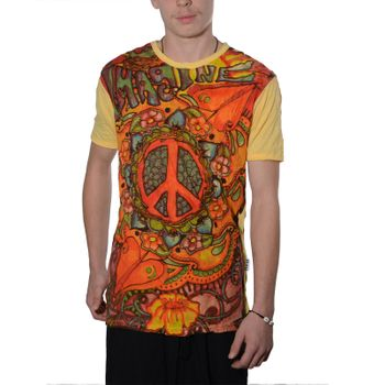 Kunst und Magie Sure 70er Retro T-Shirt with Peace Symbol – Bild 8