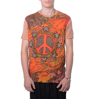 Kunst und Magie Sure 70er Retro T-Shirt with Peace Symbol – Bild 10