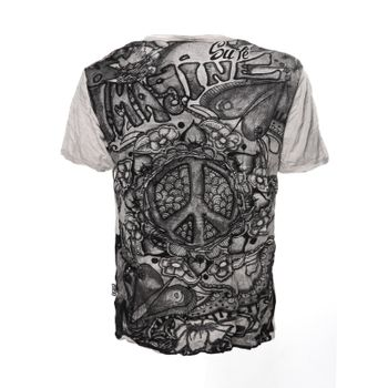 Kunst und Magie Sure 70er Retro T-Shirt with Peace Symbol – Bild 5