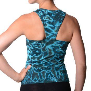 Kunst und Magie Damen Top Atmungsaktive Tie Dye Batik Yoga Top – Bild 12