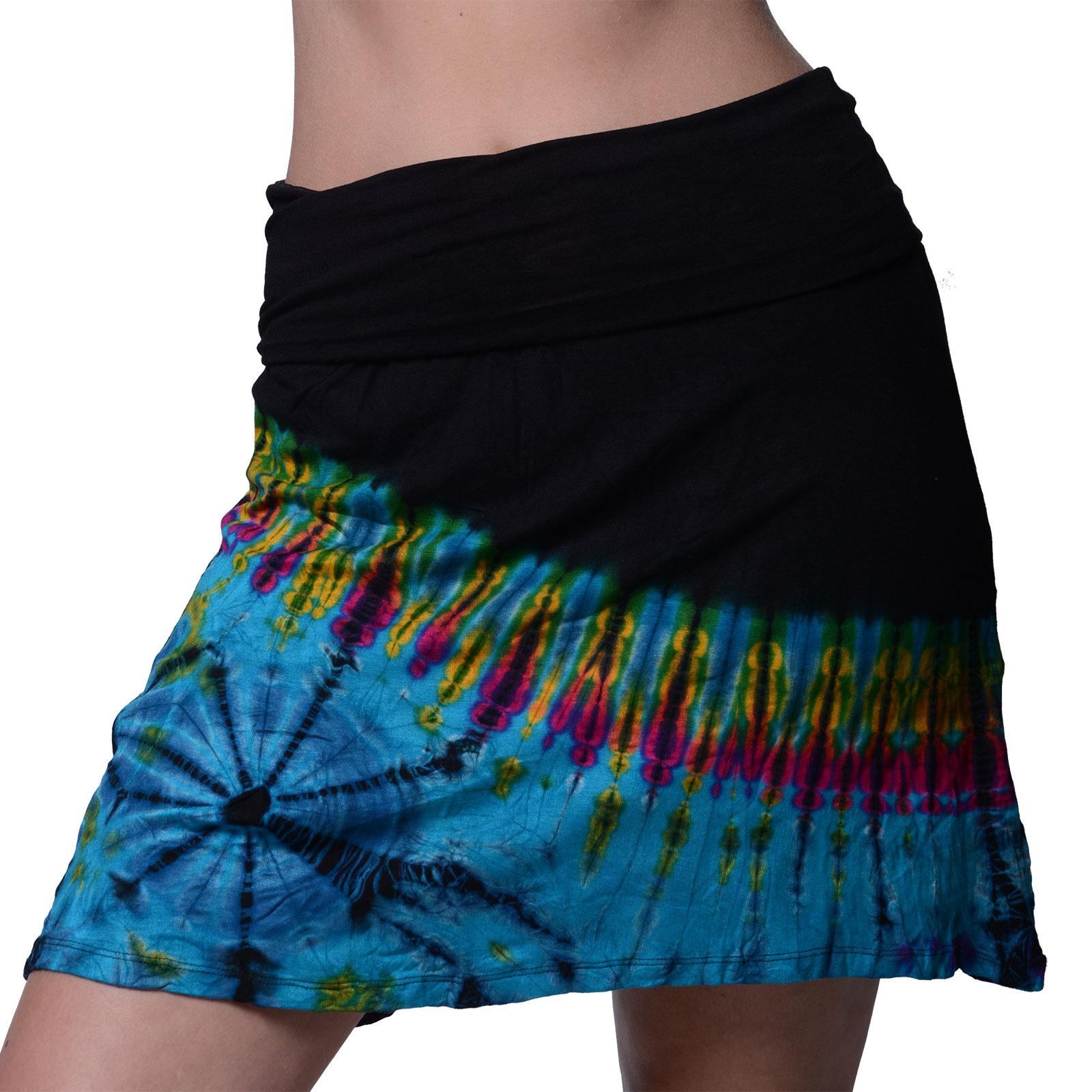 kunst und magie bunter damentie dye batik mini rock hippie goa. Black Bedroom Furniture Sets. Home Design Ideas