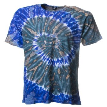 "Kunst und Magie Sure Men Colorful 70s Retro Hippie T-Shirt ""OM"" batik – Bild 1"
