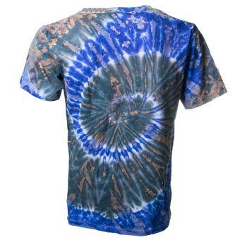 Kunst und Magie Herren Buntes 70er Retro Hippie Batik T-Shirt im tie Dye Batiklook – Bild 2
