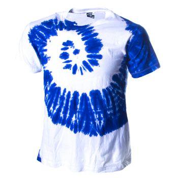 Kunst und Magie Herren Buntes 70er Retro Hippie Batik T-Shirt im tie Dye Batiklook – Bild 10