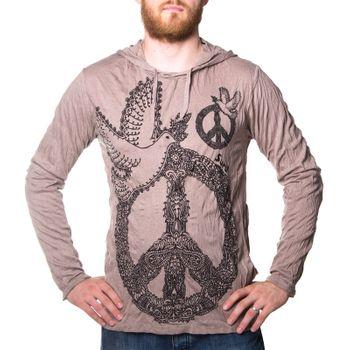 Kunst und Magie Sure Hoody Kapuzen Shirt Peace mit Friedenstaube – Bild 1