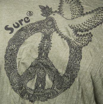 Kunst und Magie Sure Hoody Kapuzen Shirt Peace mit Friedenstaube – Bild 8