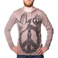 Kunst und Magie Sure Hoody Kapuzen Shirt Peace mit Friedenstaube 001