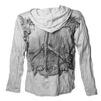 """Leichtes Sure Sommer Hoody Kapuzen Shirt mit """"Peace"""" Motiv von Kunst und Magie – Bild 4"""