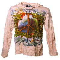 """Leichtes Sure Sommer Hoody Kapuzen Shirt mit """"Peace"""" Motiv von Kunst und Magie 001"""
