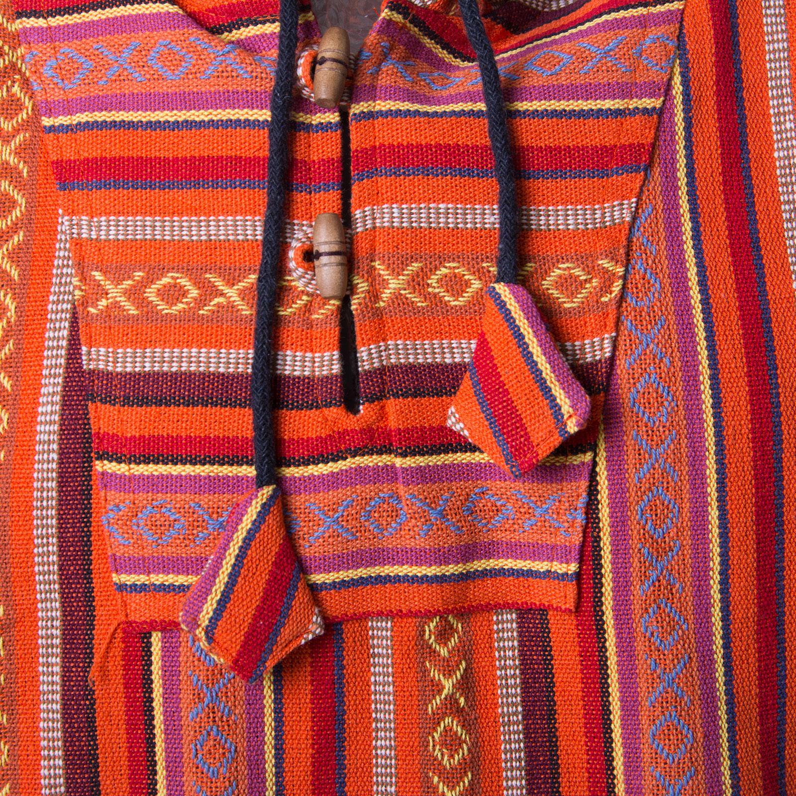 Kunst und Magie Herren Nepal Baja Hoodie Pullover Sweatshirt Poncho – Bild 82d21d2c19