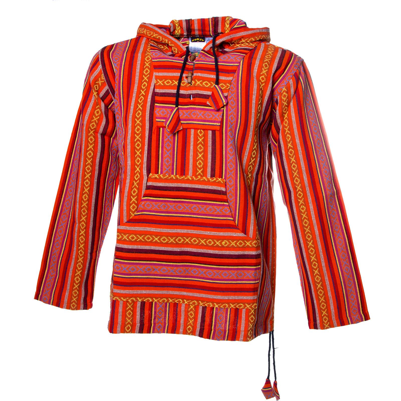Kunst und Magie Men Nepal Baja Hoodie Pullover Sweatshirt Poncho 4e05cdc966