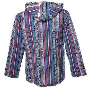 Kunst und Magie Men Nepal Baja Hoodie Pullover Sweatshirt Poncho – Bild 11