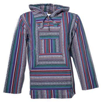 Kunst und Magie Men Nepal Baja Hoodie Pullover Sweatshirt Poncho – Bild 10