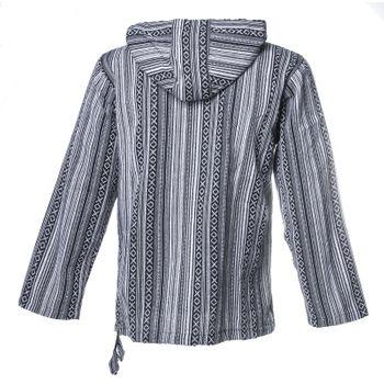 Kunst und Magie Men Nepal Baja Hoodie Pullover Sweatshirt Poncho – Bild 5