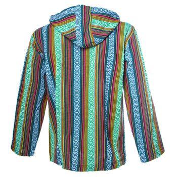 Kunst und Magie Men Nepal Baja Hoodie Pullover Sweatshirt Poncho – Bild 8