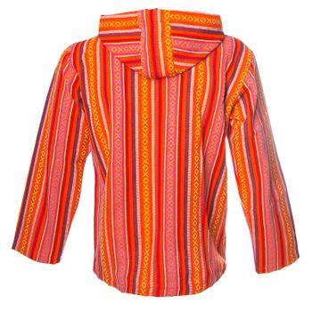 Kunst und Magie Men Nepal Baja Hoodie Pullover Sweatshirt Poncho – Bild 2