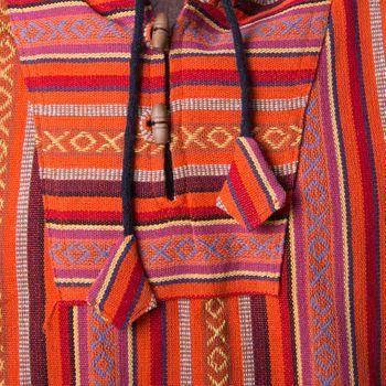 Kunst und Magie Herren Nepal Baja Hoodie Pullover Sweatshirt Poncho  – Bild 3