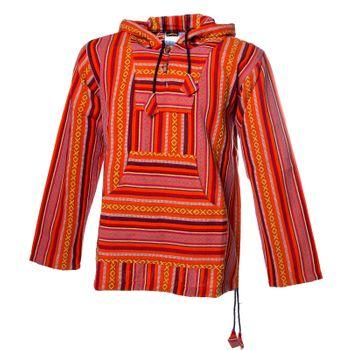 Kunst und Magie Men Nepal Baja Hoodie Pullover Sweatshirt Poncho – Bild 1