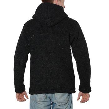 Men cardigan wool jacket with warm fleece lining and hood of Kunst und Magie – Bild 7