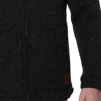 Men cardigan wool jacket with warm fleece lining and hood of Kunst und Magie – Bild 8