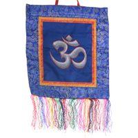 Kunst und Magie OM Tibet Wandschmuck Tanka Brokat Wandbehang  001