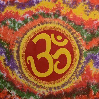 Kunst und Magie Bunte Tagesdecke Wandbehang Tuch Indien OM Batik ca. 220 x 140 cm  – Bild 2