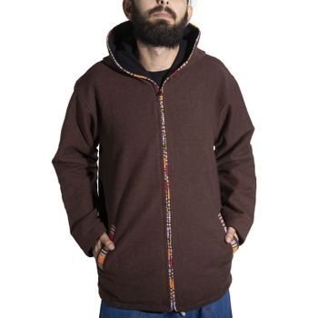 Unisex Cotton Jacket with fleece lining un hood form Kunst und Magie  – Bild 1
