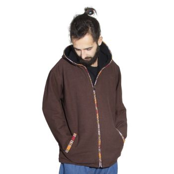 Unisex Cotton Jacket with fleece lining un hood form Kunst und Magie  – Bild 2