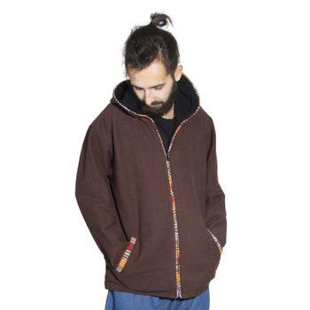 Unisex Cotton Jacket with fleece lining un hood form Kunst und Magie  – Bild 1