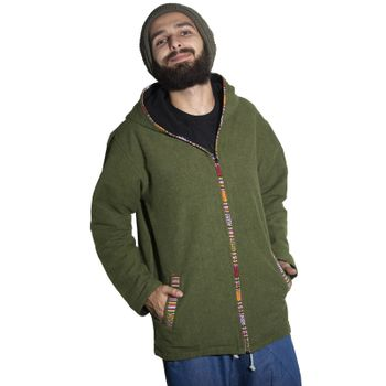 Unisex Cotton Jacket with fleece lining un hood form Kunst und Magie  – Bild 13