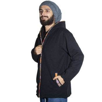 Unisex Cotton Jacket with fleece lining un hood form Kunst und Magie  – Bild 20