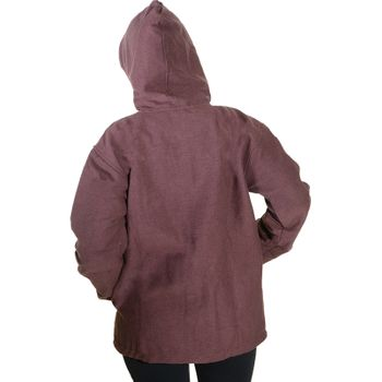 Unisex Cotton Jacket with fleece lining un hood form Kunst und Magie  – Bild 10