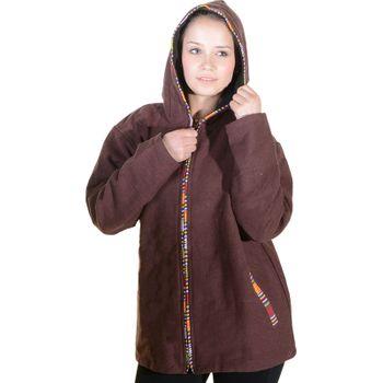 Unisex Cotton Jacket with fleece lining un hood form Kunst und Magie  – Bild 4