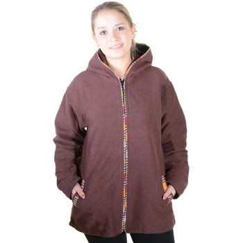 Unisex Cotton Jacket with fleece lining un hood form Kunst und Magie  – Bild 3
