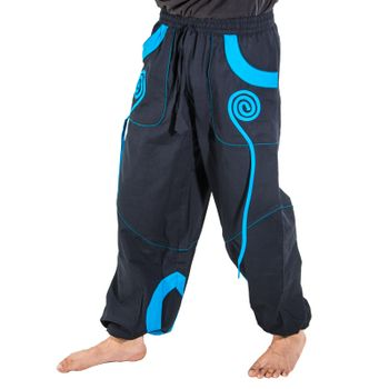 OM Unisex Psy Baggy Pants Hippie Pants Goa Cotton Dance Pants – Bild 2