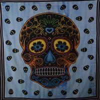 Kunst und Magie Wandbehang Sugar Skull UV-Aktives Dekotuch La Catrina Totenkopf ca. 235 x 200 cm  001