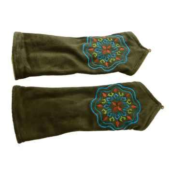 Velvet Arm Warmers with Decorative Mandala embroidery – Bild 4