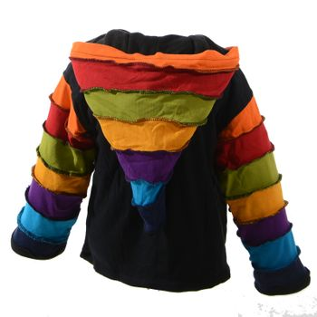 Kunst und Magie Funny Gnome Jacket with Hood Rainbow Colors – Bild 3