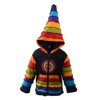 Kunst und Magie Funny Gnome Jacket with Hood Rainbow Colors – Bild 2