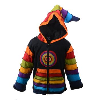 Kunst und Magie Funny Gnome Jacket with Hood Rainbow Colors – Bild 1