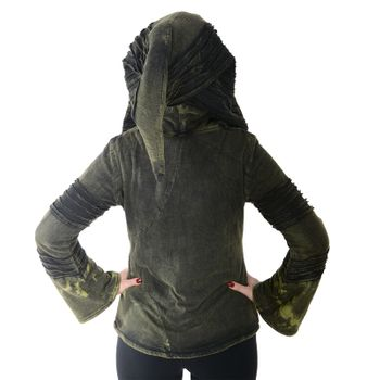 Psy Goa Cut work  Jacket Elfin Hood  Hippie Jacket  – Bild 4