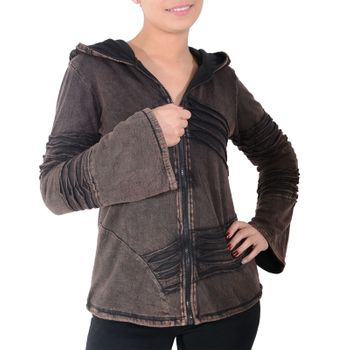 Psy Goa Cut work  Jacket Elfin Hood  Hippie Jacket  – Bild 19