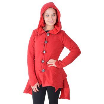 Kunst und Magie Women Fleece Hooded  Boho Frock Coat – Bild 12