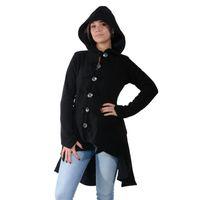 Kunst und Magie Women Fleece Hooded  Boho Frock Coat 001