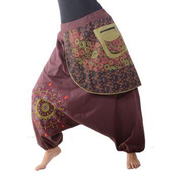 Kunst und Magie Bunte Ibiza Style Haremshose aus Baumwolle Goa Wellnesshose – Bild 6