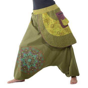 Kunst und Magie Bunte Ibiza Style Haremshose aus Baumwolle Goa Wellnesshose – Bild 9